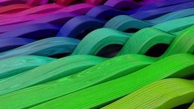 Odpłaca się 3D Geometryczny Abstrakcjonistyczny tło ilustracja wektor