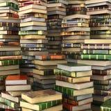 Odpłaca się duży stos kolorowe książki na pełnym ekranie ilustracji