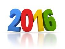 Odpłaca się nowy rok 2016 z kolorami Zdjęcia Royalty Free
