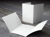 Odpłaca się Pusty szablon Trifold broszurki A4 rozmiar ilustracji