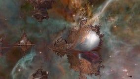 Odpłacający się Fractale galaxy ilustracja wektor