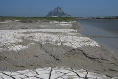 Odpływ przy Mont Świętym Michel Zdjęcia Stock