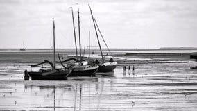 Odpływu przypływ blisko Vlieland Zdjęcie Royalty Free