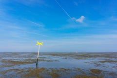 Odpływu przypływu parka narodowego Wadden morze Niski Saxony Niemcy Europa Fotografia Stock