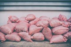 Odpadów worków menchie obraz stock
