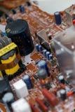 Odpady deskowe elektronika, microcircuits, capacitors zdjęcie royalty free