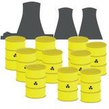 odpady nuklearne Zdjęcia Royalty Free