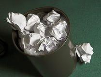 odpady papieru koszyka Zdjęcie Stock