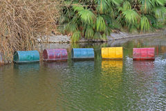 Odpady toksyczne baryłki Obraz Stock