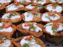 Odparowana rybia curry pasta Zdjęcie Stock