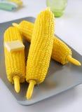 Odparowani kukurydzani cobs Zdjęcia Stock