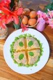 Odparowany Jajeczny Tajlandzki stylowy jedzenie obrazy stock