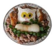 Odparowany jajko z Minced rybią piłką i wieprzowiną obrazy royalty free