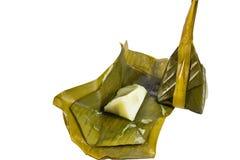 Odparowany kokosowego mleka i ryż ciasto Zdjęcie Royalty Free
