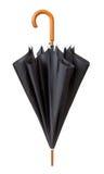 Odpinający Czarny parasol odizolowywający zdjęcia stock