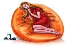 odpoczynek ilustracja wektor