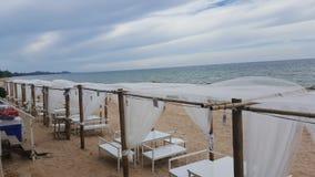 odpoczynek na plażowej kawiarni Zdjęcie Stock