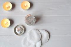 Odpoczynek w zdroju tła piękna opieki szarej fryzury błyszcząca slicked kobieta Relaksu czas dla youself Aromatherapy Obraz Stock