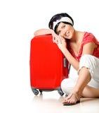 odpoczynkowa walizka Fotografia Royalty Free