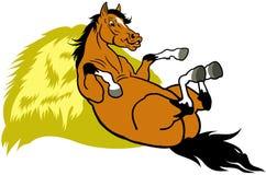 Odpoczynkowy kreskówka koń Fotografia Royalty Free