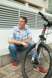 Odpoczywać po jeździć na rowerze Obrazy Royalty Free