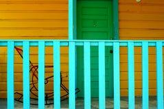 Odpoczywać w kołysać krzesła w Caye doszczelniaczu Belize fotografia royalty free