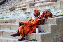 Odpoczywać Sadhu zdjęcia stock