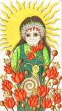 odpowiada kwiatu dziewczyny słońce Zdjęcie Royalty Free