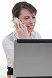 Odpowiadanie pomocnicza rozmowa telefonicza obrazy royalty free
