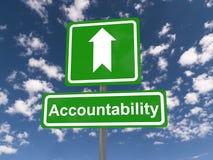Odpowiedzialność znak obraz stock