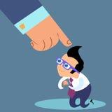 Odprawa biznesmena uległości kierowniczy biuro royalty ilustracja