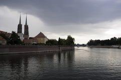 Odra-Fluss stockfotografie