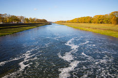 Odra river during the autumn - Poland Stock Photography