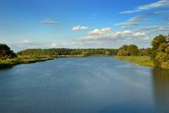 Odra river in Poland Stock Image
