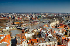 Odra river in Wroclaw Royalty Free Stock Photo