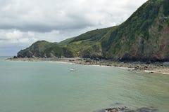 Odrewniały zatoki & kapcanu punkt Fotografia Royalty Free