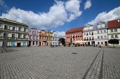 Odrzanski Bytom in Poland. Main square Royalty Free Stock Image