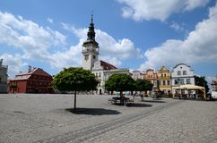 Odrzanski Bytom in Poland. Main square Royalty Free Stock Photos