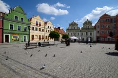 Odrzanski Bytom in Poland. Main square royalty free stock photography