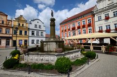 Odrzanski Bytom in Poland. Fountain stock image