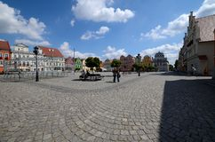 Odrzanski Bytom in Poland. Main square stock images