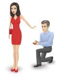Odrzucenie małżeństwo. Fotografia Stock