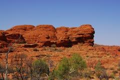 odsłaniania czerwieni skała Obraz Stock