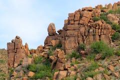 odsłanianie pustynna skała Obrazy Stock