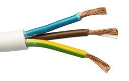 Odsłonięci kable i druty Obraz Stock