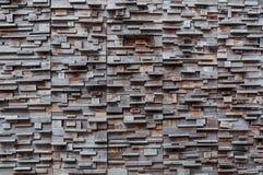 Odsłonięta drewniana ścienna powierzchowność, patchwork tworzy pięknego parkietowego drewno wzór surowy drewno, drewno ściany wzó Obraz Stock