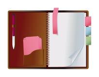 odsłonięty notatnik Zdjęcia Stock