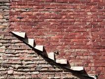 Odsłonięty Stary Brickwork Z Szorstkimi Mortared złączami zdjęcie stock