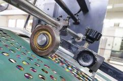 Odsadzka druku maszyny rolownik Fotografia Stock