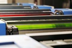 Odsadzki drukowa maszyna Obraz Royalty Free